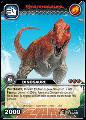 Ultrajeux tyrannosaure 153 160 carte dinosaur king cartes l 39 unit fran ais - Carte dinosaure king ...