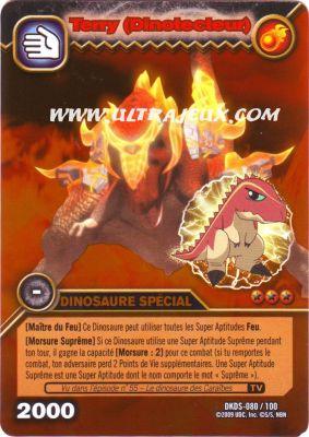 Ultrajeux terry dinotecteur 80 100 carte dinosaur king cartes l 39 unit fran ais - Carte dinosaure king ...