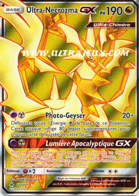 Carte Pokemon ULTRA-NECROZMA 164//236 Holo Soleil et Lune 12 SL12 FR NEUF