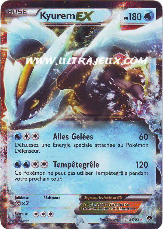 Ultrajeux kyurem ex 38 99 carte pok mon cartes l - Carte pokemon kyurem blanc ex ...
