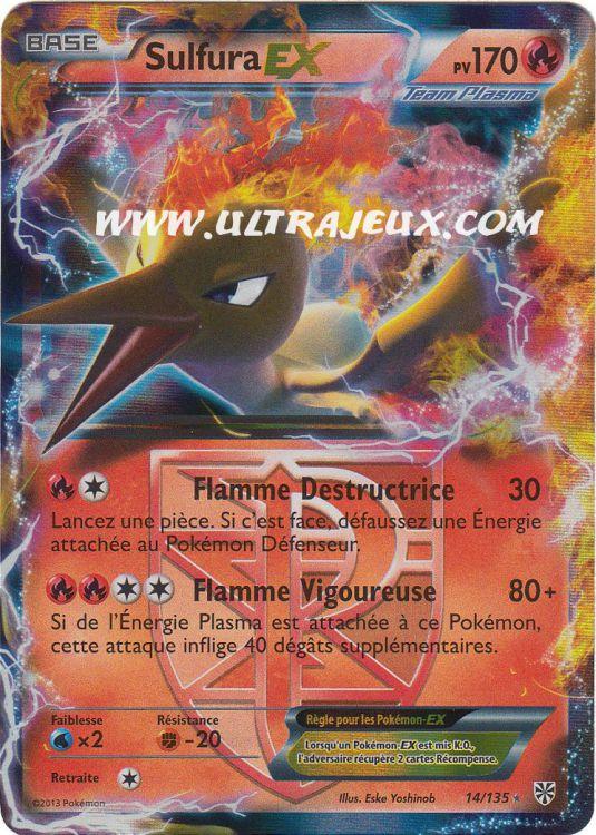 Ultrajeux sulfura ex de team plasma 14 138 carte pok mon cartes l 39 unit fran ais - Carte pokemon team plasma ...
