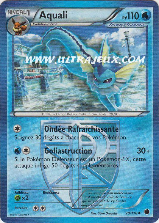 Ultrajeux aquali de team plasma 20 122 carte pok mon cartes l 39 unit fran ais - Carte pokemon aquali ...