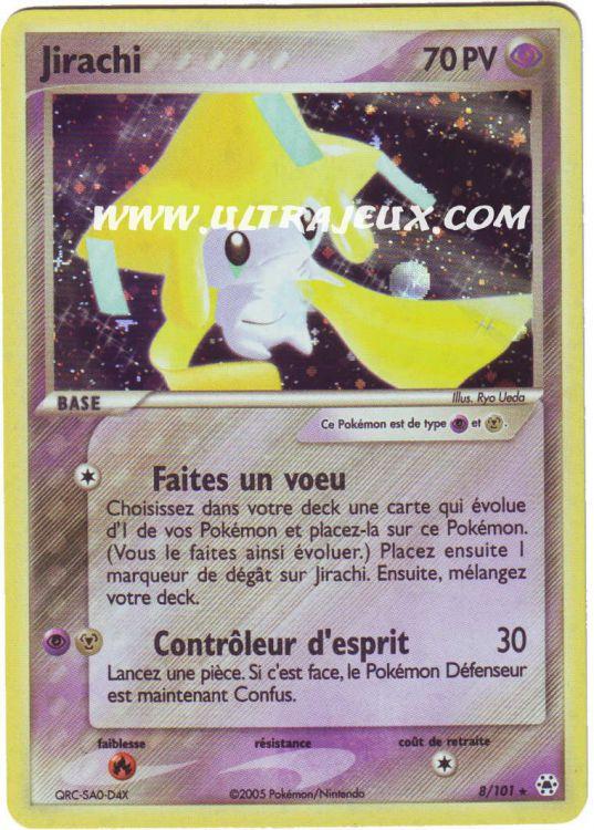 Ultrajeux jirachi 8 102 carte pok mon cartes l - Carte pokemon jirachi ...