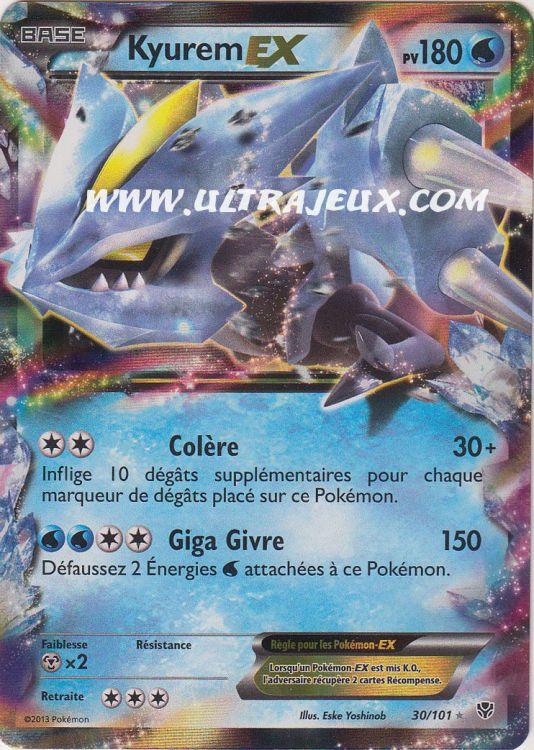 Ultrajeux kyurem ex 30 101 carte pok mon cartes l - Carte pokemon kyurem blanc ex ...