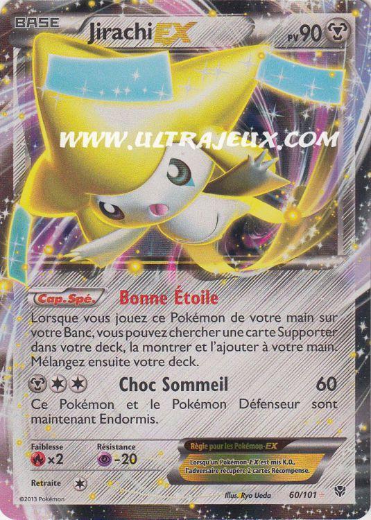 Ultrajeux jirachi ex 60 101 carte pok mon cartes l - Carte pokemon jirachi ...