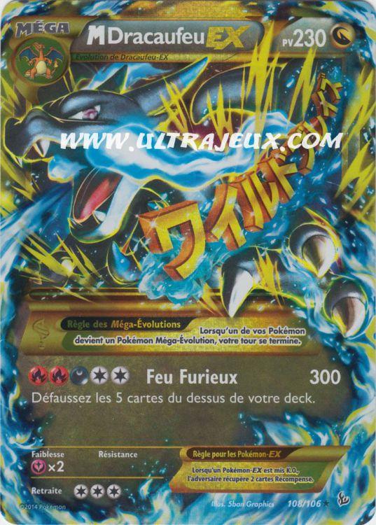Ultrajeux m ga dracaufeu ex 108 106 carte pok mon - Mega evolution dracaufeu x ...