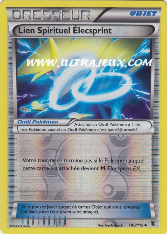 Verzamelingen Carte Pokémon XY Vigueur Spectrale 100/119 Lien Spirituel Elecsprint