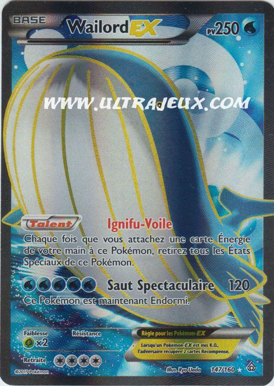 Ultrajeux Wailord Ex 147 160 Carte Pok 233 Mon Cartes 224 L Unit 233 Fran 231 Ais