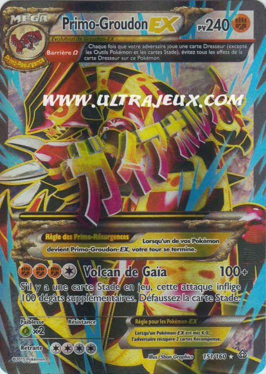 Ultrajeux Primo Groudon Ex 151 160 Carte Pok 233 Mon Cartes 224 L Unit 233 Fran 231 Ais
