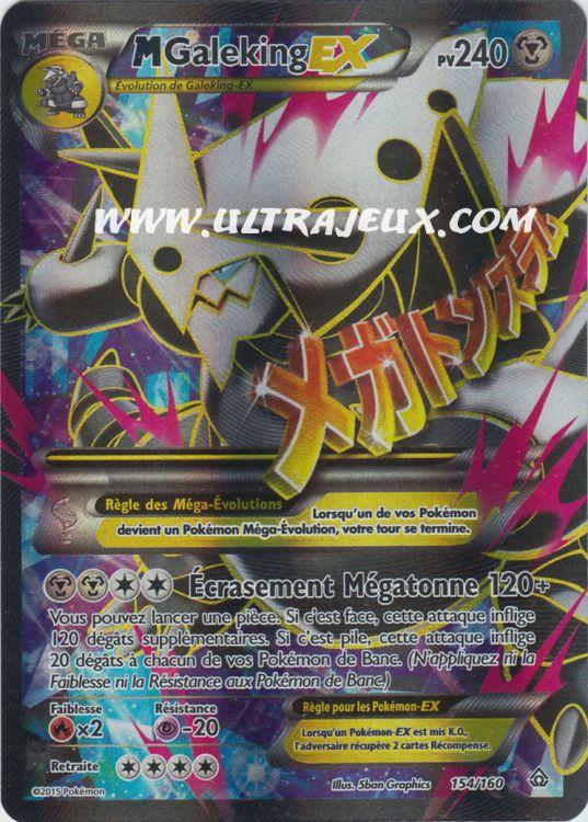 Ultrajeux Méga Galeking Ex 154 160 Carte Pokémon Cartes