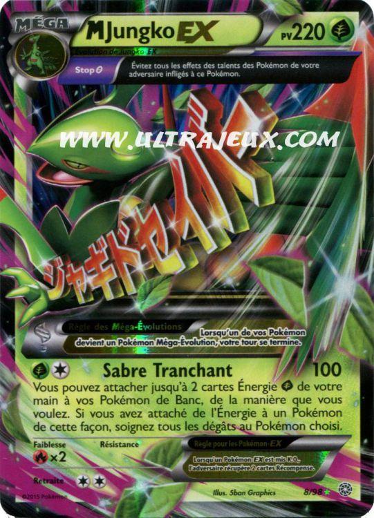 Ultrajeux mega jungko ex 8 98 carte pok mon cartes - Mega jungko ex ...