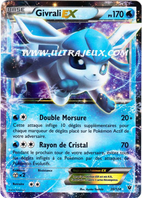 Ultrajeux givrali ex 20 124 carte pok mon cartes l - Photo de carte pokemon ex ...