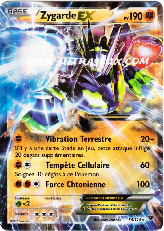 Ultrajeux zygarde ex 54 124 carte pok mon cartes l - Photo de carte pokemon ex ...