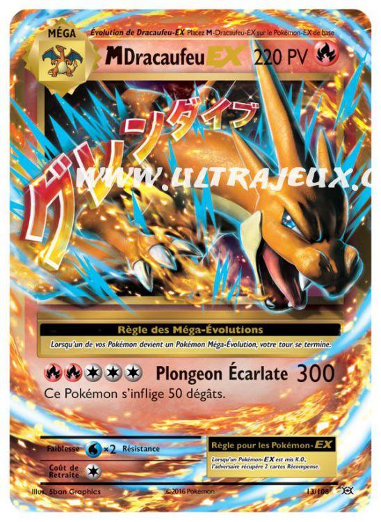Ultrajeux Méga Dracaufeu Ex 13108 Carte Pokémon Cartes