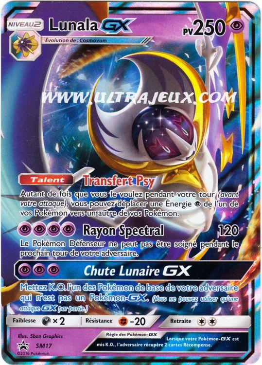 Ultrajeux lunala gx sm17 100 carte pok mon cartes l - Carte pokemon ex et gx ...