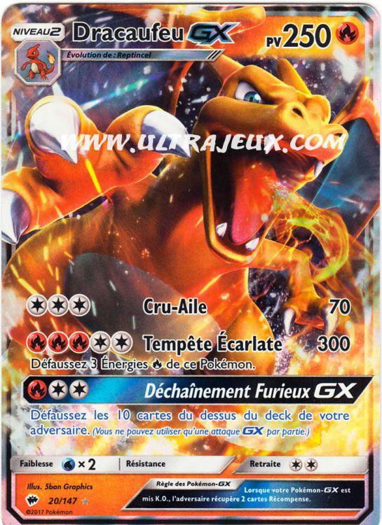 Ultrajeux Dracaufeu Gx 20178 Carte Pokémon Cartes à L