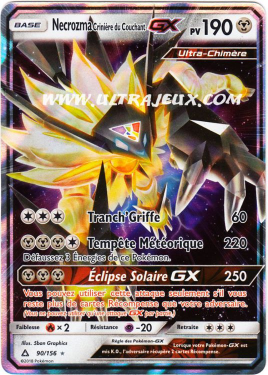 Ultrajeux Necrozma Crini 232 Re Du Couchant Gx 90 156