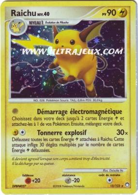 Ultrajeux raichu 15 124 carte pok mon cartes l 39 unit reverse fran ais - Pokemon rare diamant ...