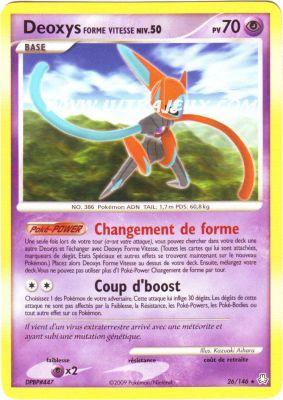 Ultrajeux deoxys forme vitesse 026 146 carte pok mon cartes l 39 unit fran ais - Pokemon rare diamant ...