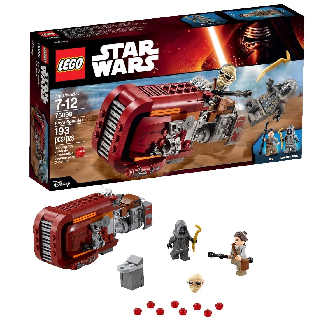 ultrajeux star wars episode vii 75099 rey 39 s speeder lego. Black Bedroom Furniture Sets. Home Design Ideas
