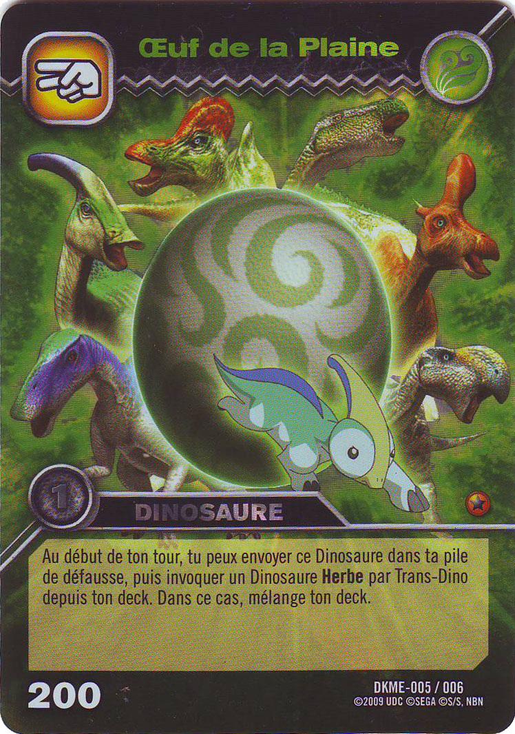 produits spciaux dinosaur king oeuf de la plaine