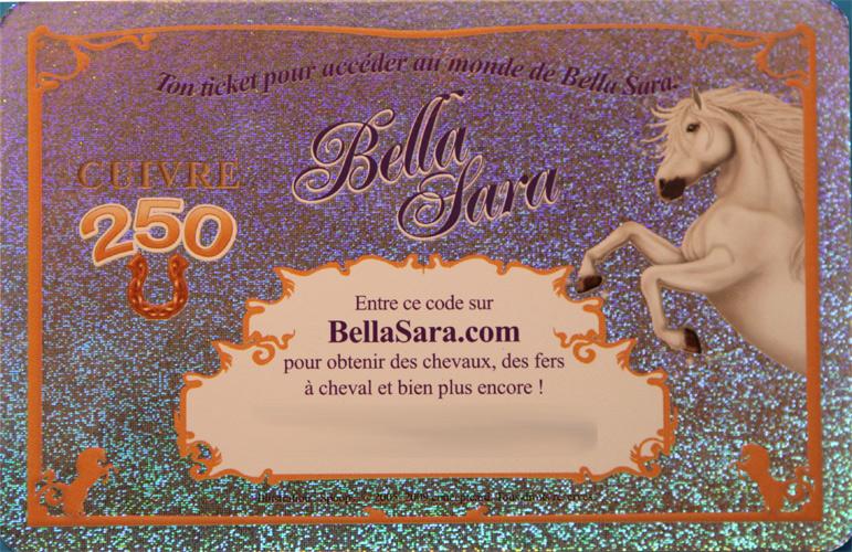 Ultrajeux tickets ticket bella sara familles royales cuivre bella sara - Jeux de bella sara ...