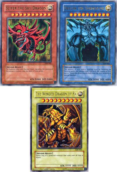 Yugioh Dieux cartes Set: obélisque Dieux! Ra Slifer ami lc01 anglais