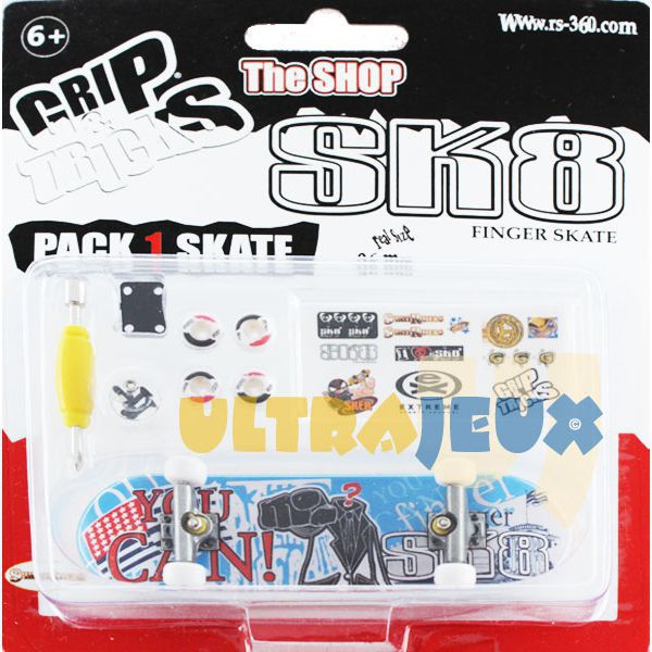 ultrajeux 1 pack grip tricks 1 finger skate accessoires you can sk8 spirit riders. Black Bedroom Furniture Sets. Home Design Ideas