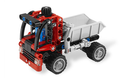 Ultrajeux technic 8065 le mini camion benne lego - Jeux de construction lego technic ...