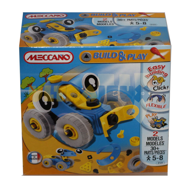 ultrajeux gamme meccano build play voiture bleue meccano. Black Bedroom Furniture Sets. Home Design Ideas