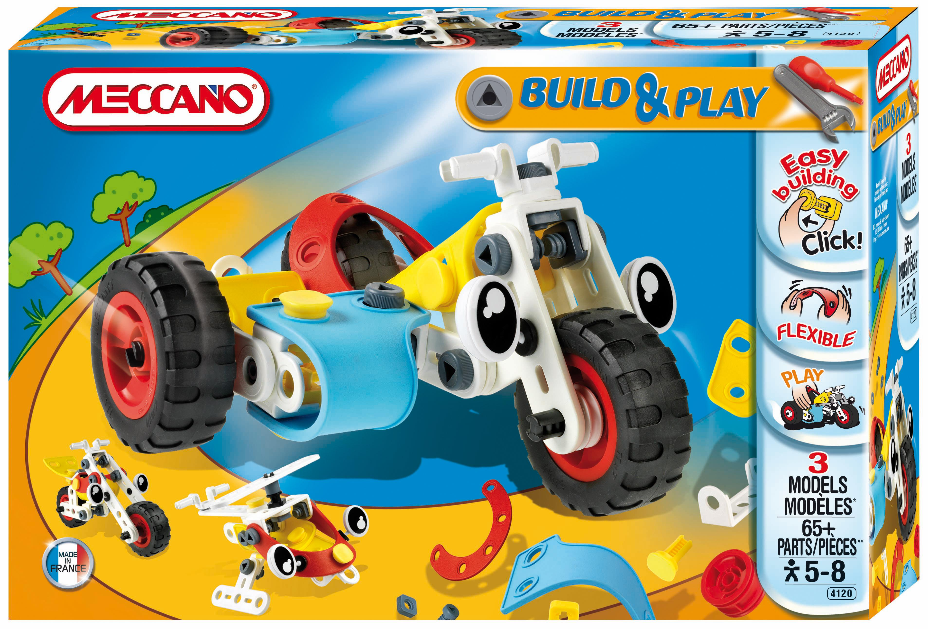 ultrajeux gamme meccano build play le side car meccano. Black Bedroom Furniture Sets. Home Design Ideas