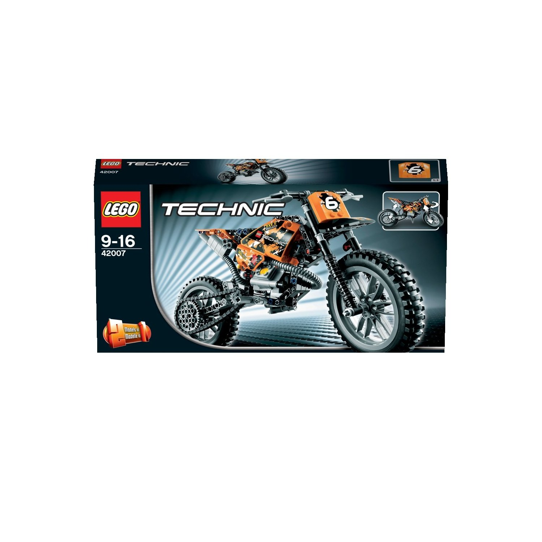ultrajeux technic 42007 la moto cross lego. Black Bedroom Furniture Sets. Home Design Ideas