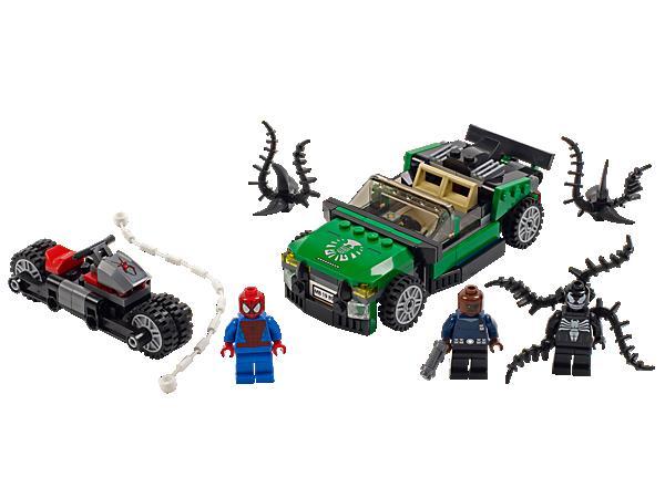 super heroes 76004 spider man la poursuite en moto araigne