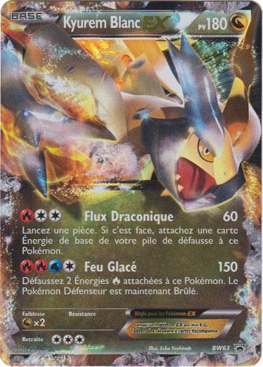 Ultrajeux produit sp cial bw63 kyurem blanc ex pok mon - Carte pokemon kyurem blanc ex ...