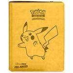 Portfolios Pokémon Premium Pro-binder - Simili Cuir Jaune Pikachu -  360 Cases (20 Pages De 18)