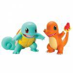 Figurine Pokémon Carapuce & Salamèche