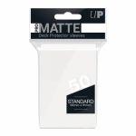 Protèges Cartes Accessoires Sleeves Ultra-pro Par 50 Standard Matte Blanc