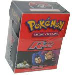 Boites de Rangement Pok�mon Deck Box Pok�mon 1g Team Rocket + 60 Prot�ges Cartes Ultra-pro Transparent