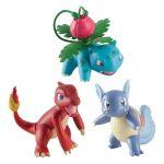 Figurine Pokémon Pokémon - Pack 3 Figurines Evolutions - Reptincel, Carabaffe Et Herbizarre