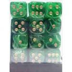 Accessoires Set De 36 D�s � 6 Faces Couleur Marbr� Vert