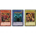 Cartes Spéciales Yu-Gi-Oh! YGLD - Lot Dieux Egyptiens Slifer, Obelisk Et Ra !