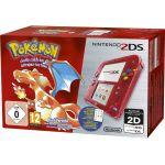 Produits Spéciaux Pokémon Nintendo 2ds Rouge Transparent + Pokémon Rouge Préinstallé