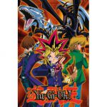 Accessoires Yu-Gi-Oh! Yu-Gi-Oh! Poster Yugi Joey Kaiba Et Leurs Monstres