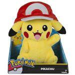 Figurine Pokémon Peluche Pikachu (avec casquette) 25 cm