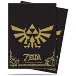 Protèges Cartes Standard  Sleeves Standard Par 65 - The Legend Of Zelda : Black & Gold