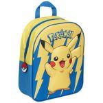 Produits Dérivés Pokémon Sac À Dos Pikachu 3d En Relief Fond Bleu