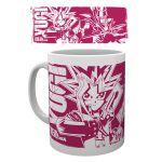 Produits Dérivés Yu-Gi-Oh! Mug Fuschia Yami Yugi & Son Magicien Sombre