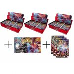 Boosters Français Force of Will R3 - La Sorcière Manipulatrice Du Temps - Lot De 3 Boites De 36 Boosters + Le Tapis