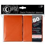 Protèges Cartes Accessoires Sleeves Ultra-pro Standard Par 80 Eclipse Orange Matte