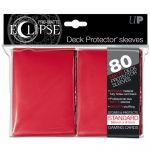 Protèges Cartes Accessoires Sleeves Ultra-pro Standard Par 80 Eclipse Rouge Matte